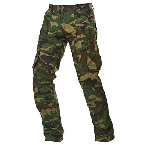 Camouflage Biker Jeans