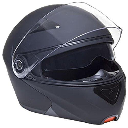 Rallox Motorradhelm schwarz