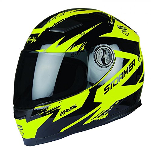 Stormer Motorradhelm neon