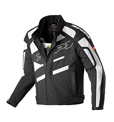 Spidi Motorradjacke Schwarz Weiß