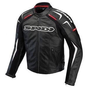 Spidi Motorradjacke schwarz Leder