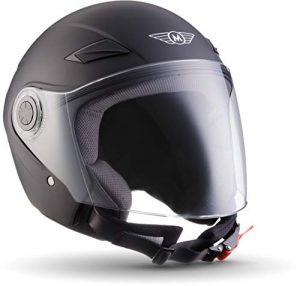 Jethelm schwarz moto helmets